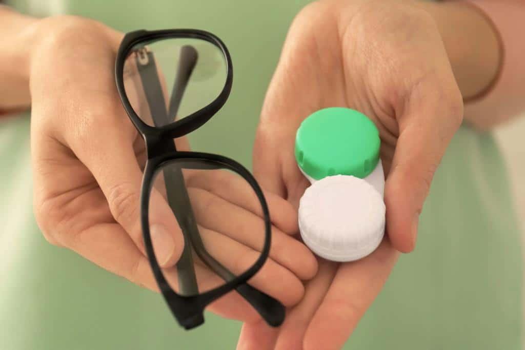 occhiali lenti a contatto