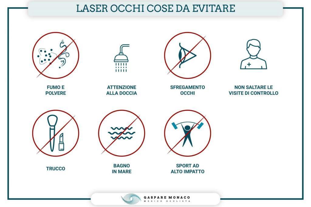 laser occhi cose da evitare